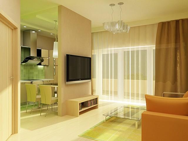 Дизайн студии в однокомнатной квартире