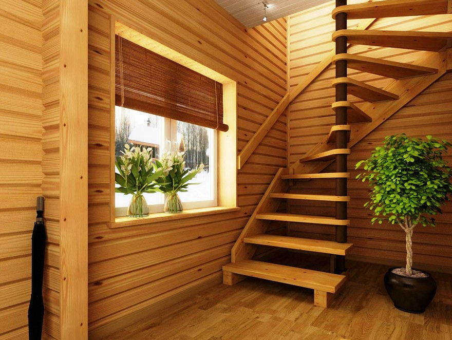 Лестница в доме на второй этаж деревянная своими руками